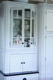 Dish Display Cabinet White Dishes In The Little Cupboard Stonegable