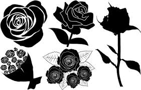 バラ イラスト フリー画像 薔薇の花イラストかわいい シルエット