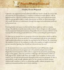 Writing A Proposal Example Charity Event Proposal Sample Proposal Writing Service