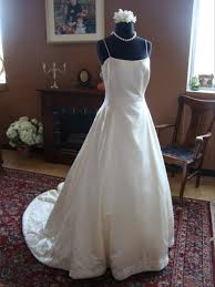 Lazaro Bridal Size Chart Lazaro Ivory Silver Silk Satin Fixer Spaghetti Strap Formal Wedding Dress Size 8 M 96 Off Retail
