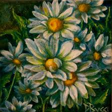 Crazy Painting Painting Daisy Crazy Pocketbook Painting Original Art By