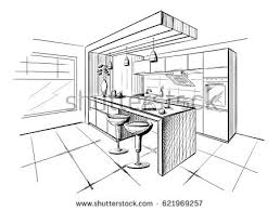 kitchen drawing perspective. Simple Kitchen 450x341 Kitchen Amusing Room Drawing Perspective Interior To C