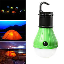 Us 1 39 40 Off Portable Outdoor Hanging Tent Camping Light Soft Light Led Bulb Waterproof Lamp Lanterns Night Lights Powered By 3 Aaa Battery In