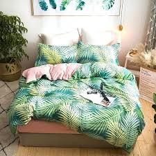 tropical plants palm leaves bedding sets single queen king size duvet cover set bed linen quilt