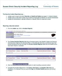 43 Incident Report Formats Pdf Word Pages Free