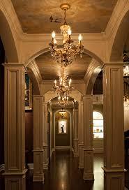 mini chandeliers hallway