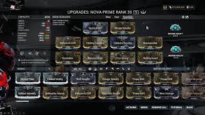 Warframe Enemy Weakness Chart Nova Builds Guide Tennobattle Warframe Builds And Guides