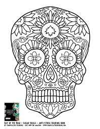Weird Day Of The Dead Coloring Pages For Adults Lovely Cool Sugar Skulls