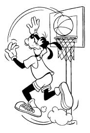 Goofy Speelt Basketbal Kleurplaat Gratis Kleurplaten Printen