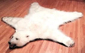 faux polar bear rug bearskin skin with head white plush fur taxidermy for adorable faux fur full polar bear skin rug
