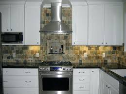 slate backsplash tile kitchen contemporary with none installation