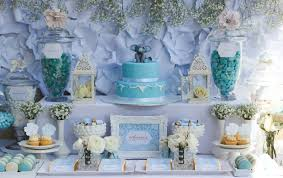 Karas Party Ideas Blue Gold Baby Shower