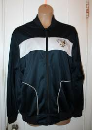 details about f troop vintage retro black zip track jacket men s size large rare