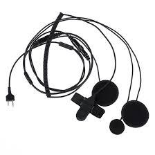 2 pin two way radios full face motorcycle moto bike helmet headset earphone miniphone for i maxon yaesu vertex in bluetooth earphones headphones from