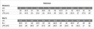 Salomon Boot Size Chart Salomon Snowspike Cswp Trail Running Shoes Unisex