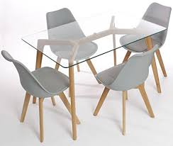 glass top dining table set 4 chairs glass dining room tables