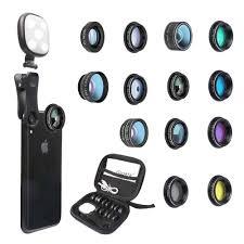 Ring Light For Iphone Xr Goviw Phone Camera Lens Kit 14 In 1 Lenses With Selfie Ring