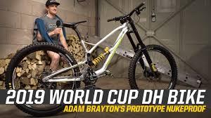 2019 World Cup DH Bike - Adam Brayton's Prototype Nukeproof - YouTube