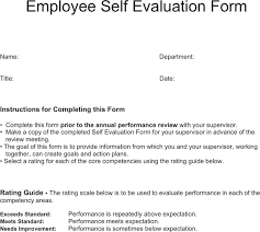 Simple Employee Review Free Employee Evaluation Template Forms Major Magdalene
