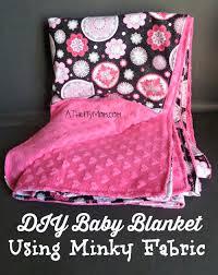 diy baby blanket using minky fabric easy thrifty gift