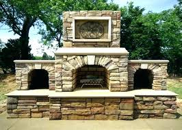outdoor fireplace kits with pizza oven combo how to build an outdo