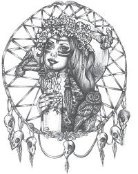 Native Dream Catchers Drawings Collection of 100 Native American Skull Tattoo Page 96