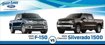 Ford Truck Comparison Chart 2020 Ford F 150 Vs 2020 Chevy Silverado Pickup Truck
