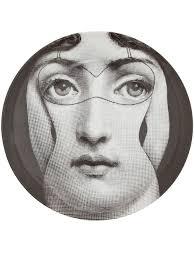 Fornasetti Art Prints Fornasetti New York Fornasetti Face Print Coaster White Women