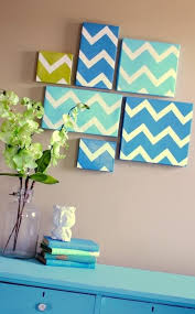homemade diy chevron wall art via spunky junky tip she uses shoebox lids instead of canvases earlier readers may know that i love chevron  on chevron canvas wall art diy with chevron canvases future apartment inspiration pinterest easy