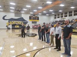 high school gym. The Knoxville High School Held Their Grand Re-opening Of Recently Renovated Gymnasium Tuesday Evening. Gym