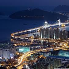 Gwangan Bridge, Busan, South Korea ...