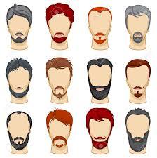 男漫画ヘアスタイルはベクトル コレクションですひげのイラスト