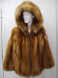 considerable men clothing oliverfurs brand new red fox fur jacket w hood for man size