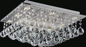 6 light flush mount with chrome finish