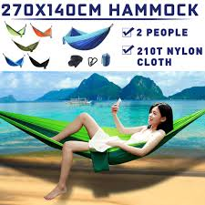 5 Colors <b>Outdoor</b> Portable <b>Hanging Bed</b> For Two Person Camping ...
