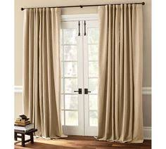sliding glass door curtains pottery barn. Simple Barn Peyton LinenCotton Drape In French Ivory For Living Rm Pottery Barn 4  Patio  Door  Throughout Sliding Glass Curtains Pinterest
