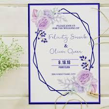 Wedding Invitations Templates Purple Purple Wedding Invitation Template For Free Download On Pngtree