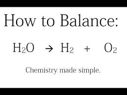 how to balance h2o h2 o2