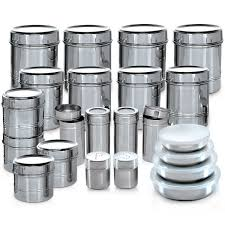 branded 44 pcs stainless steel storage set