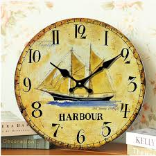 impressive inspiration large decorative wall clocks antique wooden clock sail anchor fun sailing metal kid s