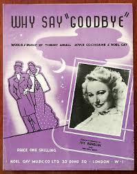 IVY BENSON WHY Say Goodbye by Tommy Angell, Joyce Cochrane & Noel Gay –  1943 - EUR 6,08 | PicClick FR