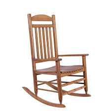 hampton bay natural wood rocking chair