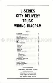 ford l series truck wiring diagram l l l l table of contents page