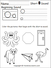 Just print and use them. Free Beginning Sounds Worksheet Short O Free4classrooms