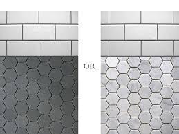 bathroom floor tile hexagon. Black And White Hexagon Bathroom Tile Floor U