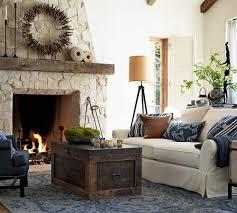 Pottery Barn Style Living Room Pb Tudor Upholstered Mini Sofa Two Tone Carpet Pottery Barn Living