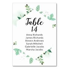 Hexagon Seating Chart Mint Foliage Wedding Reception Guest Seating Chart Table Number