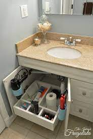 How To Build A Bathroom Vanity Sliding Shelf Interior Frugalista