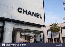 chanel storefront. chanel store on rodeo drive in beverly hills,los angeles,l.a.california,u.s.a.,california,u.s.a.,united states of america,palm tree,exclusive, storefront n