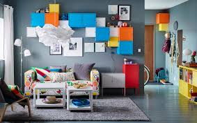 living room furniture ikea. A Small Livingroom Furnished With Two Seat Sofa Cover In Colourful Living Room Furniture Ideas Ikea V